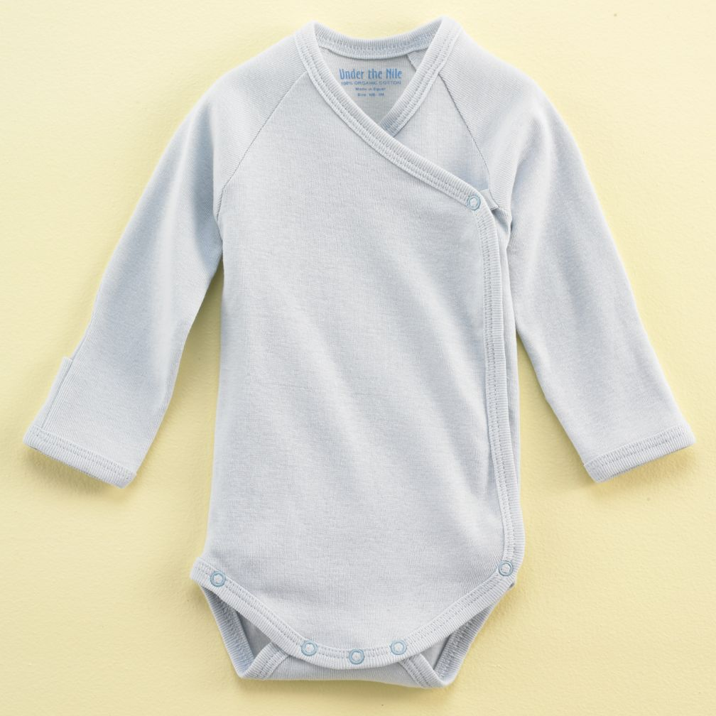 3-6 mos. Lt. Blue Sidesnap Onepiece